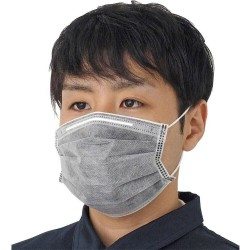 Activated carbon nano filter - 4-layer mouth / face mask - antibacterial - grey