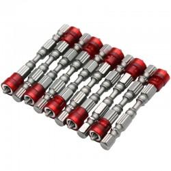 65mm PH2 magnetic bits hex shank screwdriver bits - 10 pieces