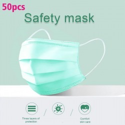 Disposable face/ mouth masks - 3 layer - anti-dust - anti bacterial - premium green
