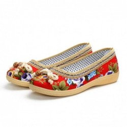 Classic flat loafers - slip-on sneakers - with floral print
