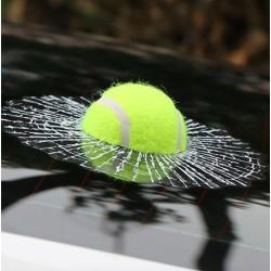 Tennis ball - cracked window - car sticker