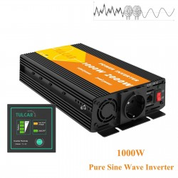 Pure sine wave converter - DC 12V to AC 220V 230V - car power supply - inverter - 1000W