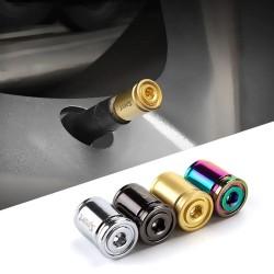 Sport - car tire valves - anti-theft caps - zinc alloy - 4 pieces