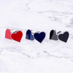 Classic heart shaped cufflinks