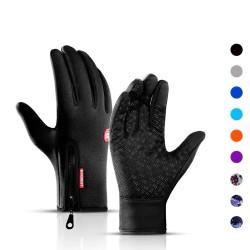 Winter warm gloves - touchscreen - waterproof - with zipper - unisex