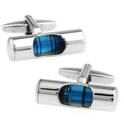 French style cufflinks - blue water level