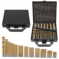 15-10mm HSS titanium coated twist drill bits 99 pcs set