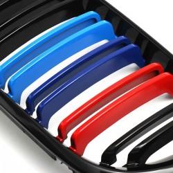 Front bumper grill - 2 line slat M color 3 colors for BMW 3 Series E46 4-door 2 pcs